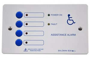 4-way disabled toilet alarm controller PR