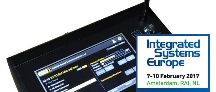 Touchscreen Microphone at ISE